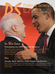 Obama Cover 1 - PS, Political Science & Politics