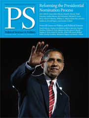 Obama Cover 2 - PS, Political Science & Politics
