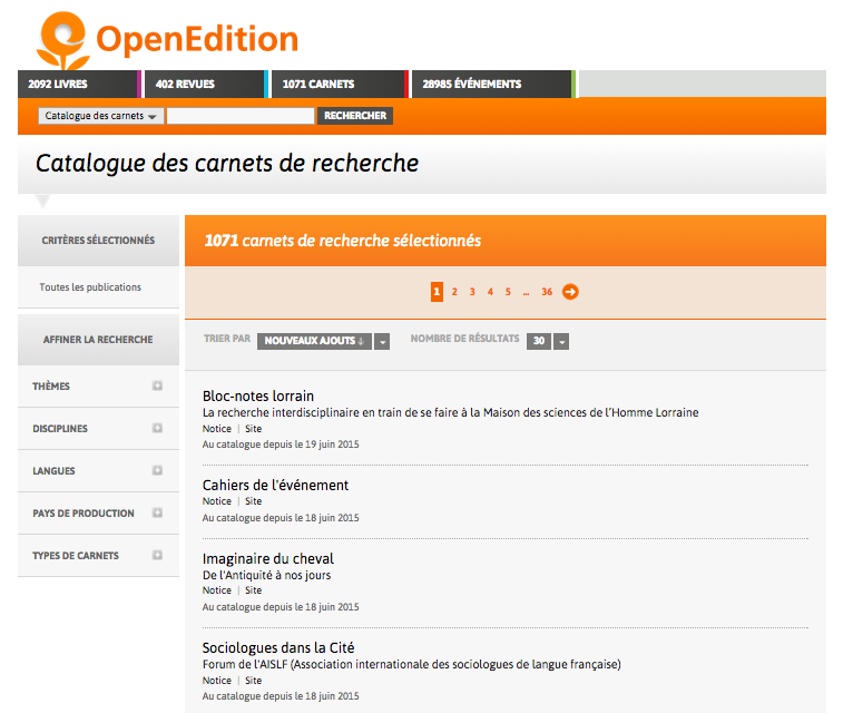 openedition-catalogue