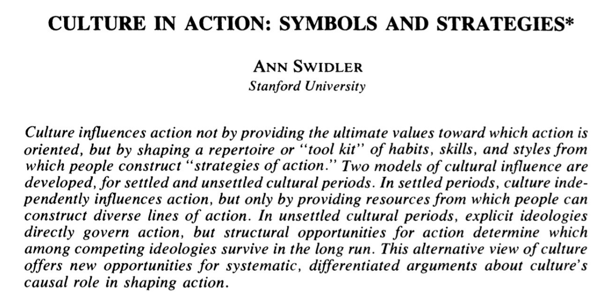 swidler-culture-in-action