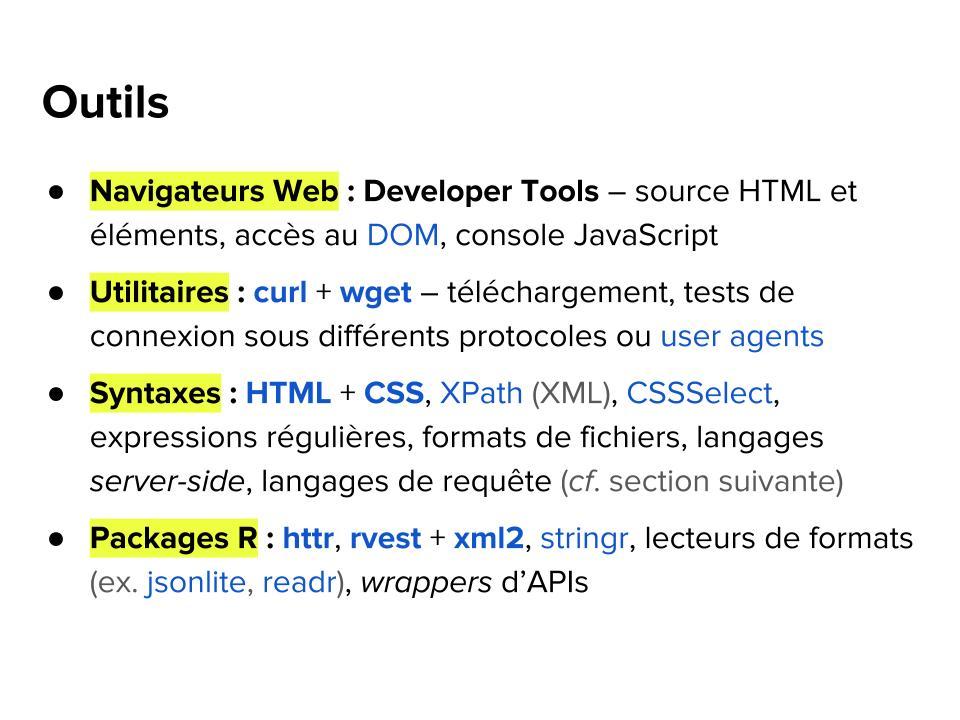 Séminaire RUSS : Web scraping et APIs avec R | Polit'bistro : des